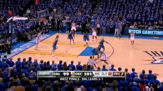 2011 NBA Playoffs: Mavericks vs Thunder Game 4 OT Highlights (3-1) (5/23/11)