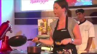 Chef Emelias   Peanut Butter Parfait With Chocolate Cream And Cornflake Praline