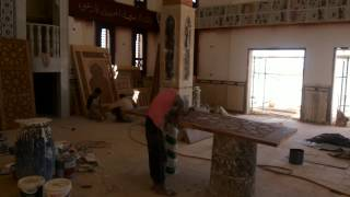 الشيخ محمد حسين امام مسجد قناة السويس الجديدة يتفقد التشطيبات النهائية قبل افتتاج القناة يوليو2015