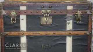 Louis Vuitton Steamer Trunk | Louis Vuitton | Antique| Clarke Auction Gallery