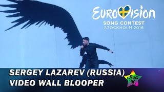 Video wall graphics blooper - Sergey Lazarev - Second rehearsal for Eurovision 2016 (Russia)