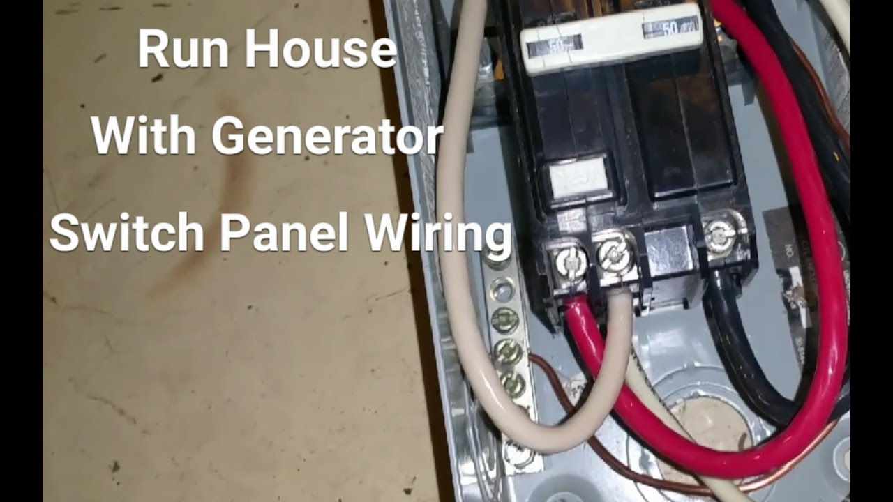 How To Hook Up A Generator To Your House - Pt 2 Switch Box Wiring ...