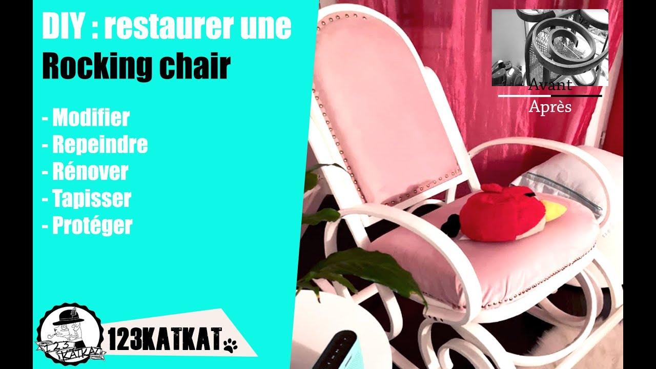 Chaise En Bois Repeinte diy rocking chair : modifier, repeindre, rénover, tapisser un vieux fauteuil