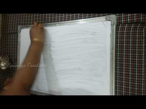 Best Way to Clean a Dry Erase Board or Whiteboard | How to Clean Dry Erase Board ||Spanaga Creations