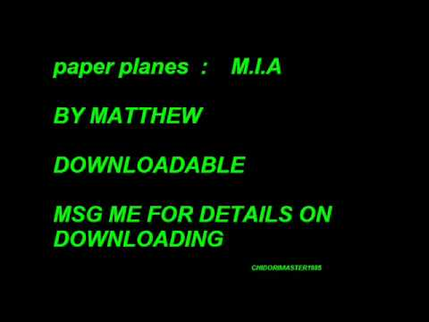 paper planes m i a ringtone youtube