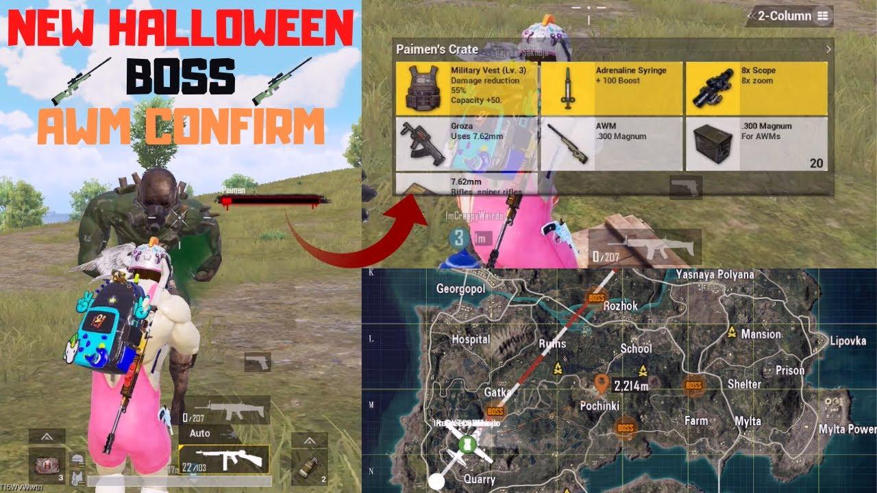 New Halloween (Halloweek) Mode Erangel New Boss Paimen AWM Confirm Pubg Mobile
