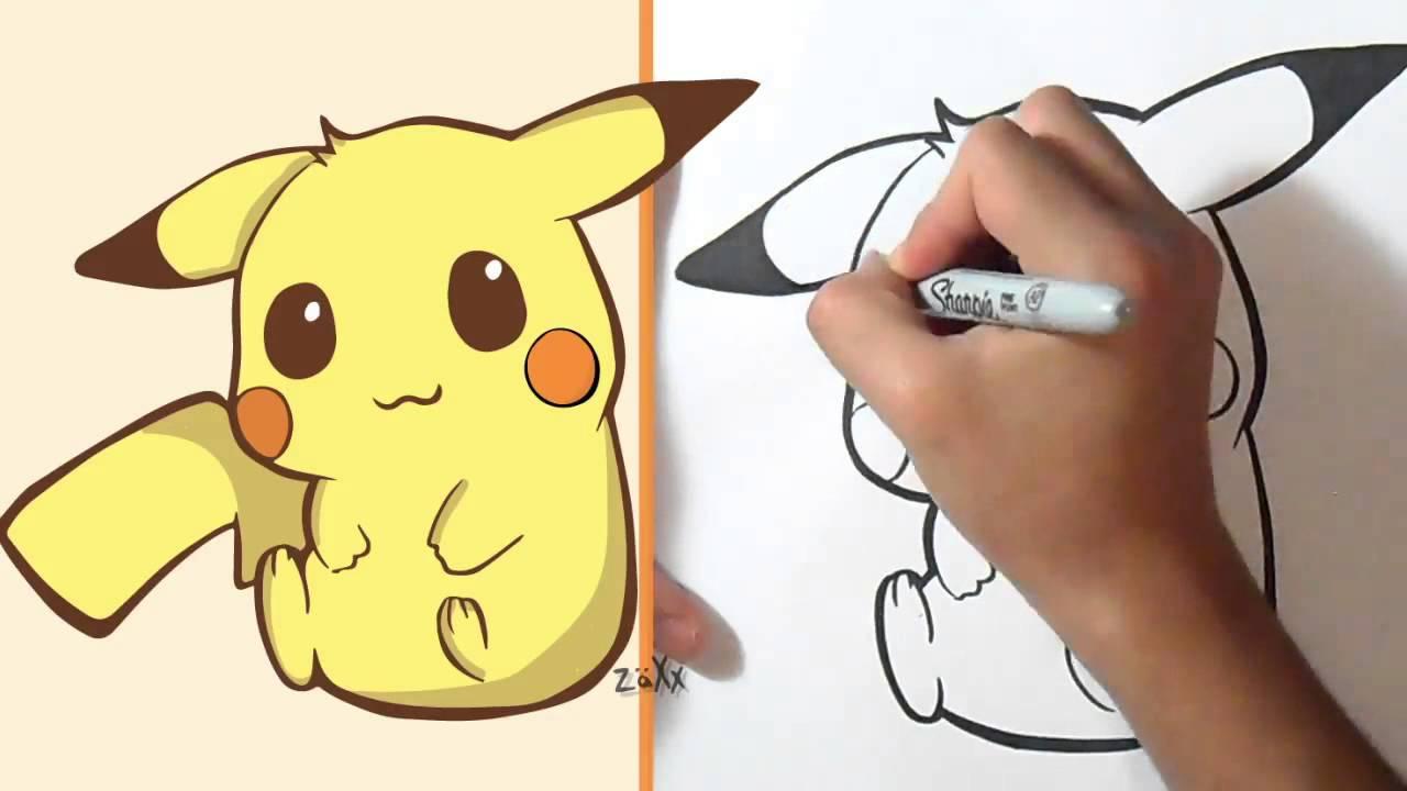 Cómo Dibujar Pikachu Kawaii Youtube