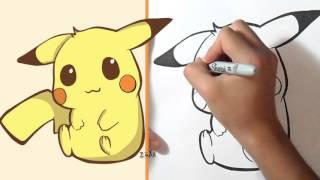 How i draw Pikachu Kawaii