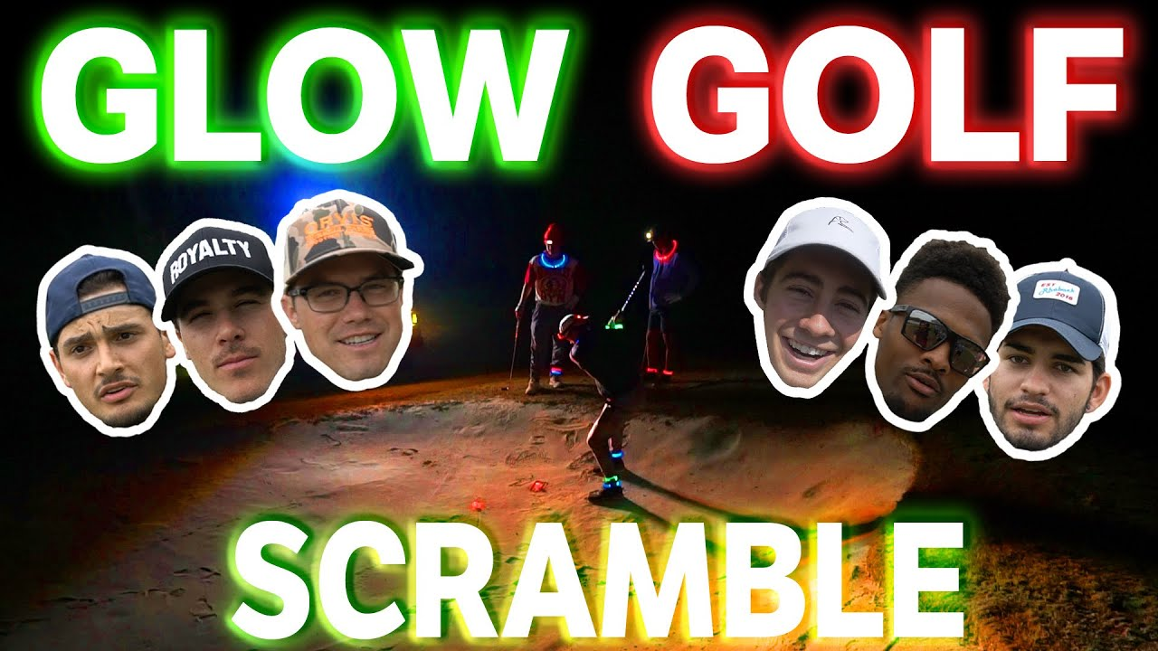 Epic 3v3 Glow Golf Scramble | Tall vs. Small