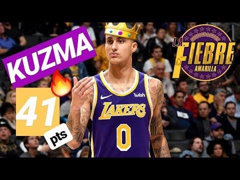 🔥 Kyle KUZMA 41 puntos | KUZMANÍA con récord personal NBA | Lakers vs Pistons