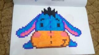 Мои рисунки по клеточкам + как нарисовать кита по клеточкам.
