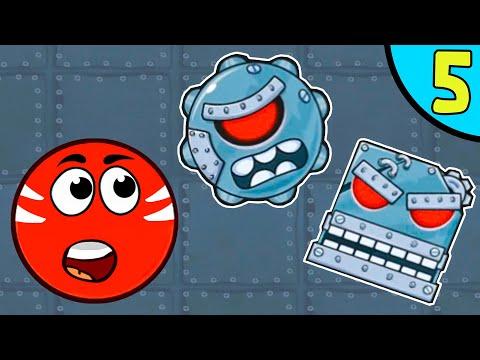 Несносный КРАСНЫЙ ШАР против злодеев в масках #5. Мрачная фабрика 1. Мультик Red Ball на Игрули TV