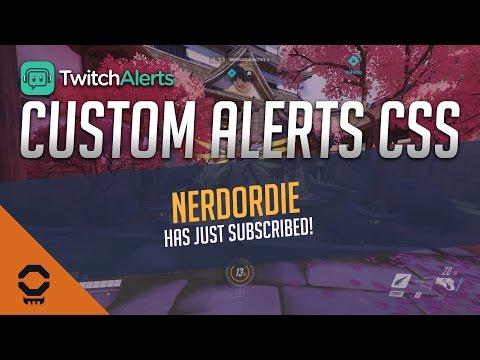 Twitch Alerts - Custom Overwatch Alert CSS