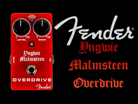Fender Yngwie Malmsteen overdrive demo 1/2 BOOST MODE