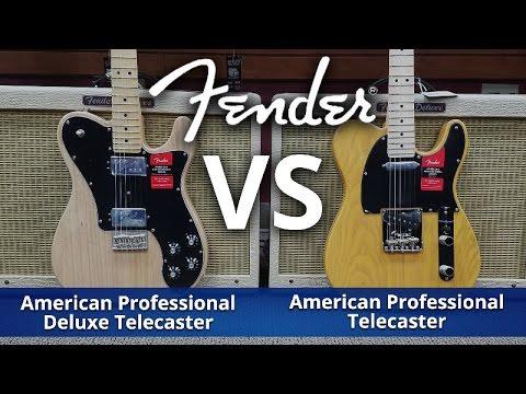 Fender 2017 American Professional Vs American Professional Deluxe HH Shawbucker