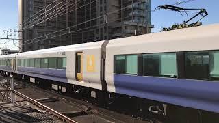 JR東日本E257系500番台(幕張車両センターNB-01編成)+(NB-10編成)。