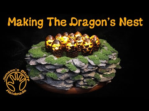 Woodturning The Dragon's Nest Night Light. Pinecone Mini Eggs