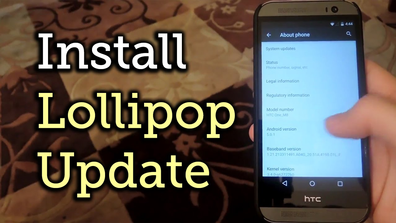 manually update your htc one to android 5 0 lollipop how to youtube rh youtube com Verizon Droid DNA Phone HTC Droid Incredible Phone