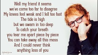 Watch Ed Sheeran You Break Me video