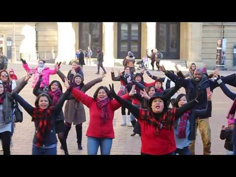Bule pun Ikut Flash Mob Ahok Djarot di Luxembourg