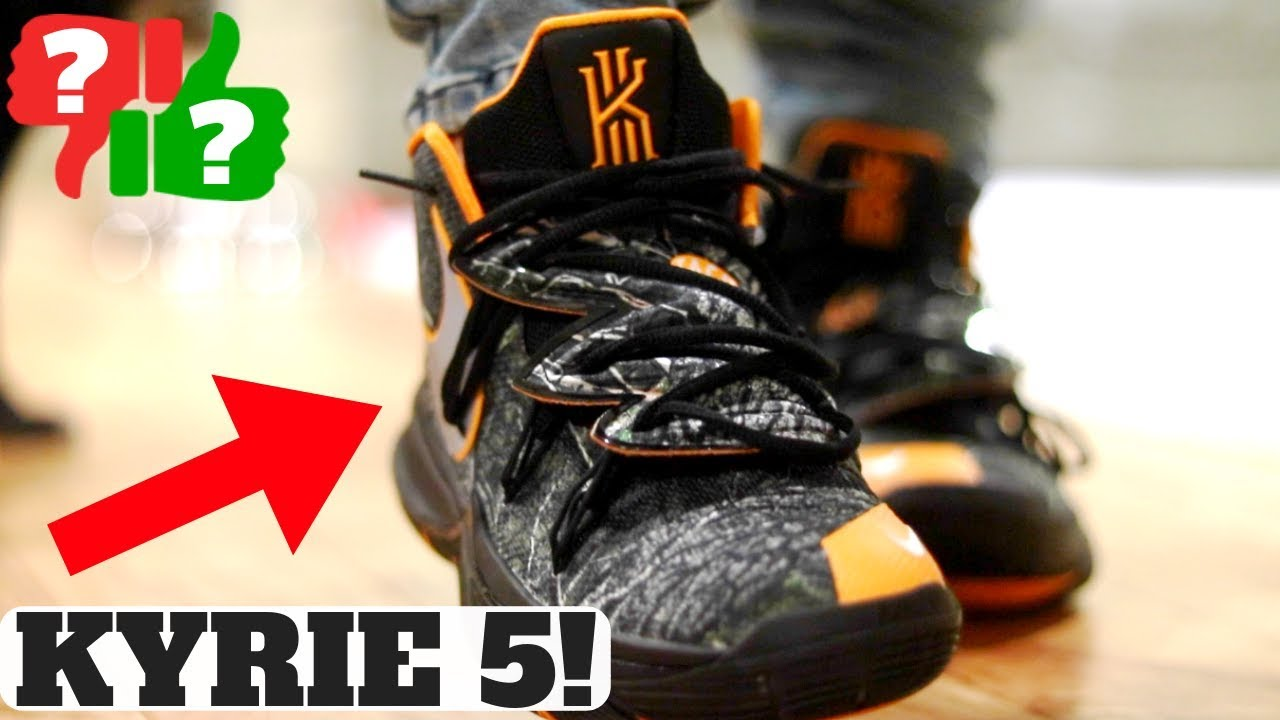 NIKE KYRIE 5 Review! Worth Buying for Off Court  Fit  How to Lace ... bc8dafd75367