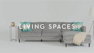 Cosmos Grey 2 Piece Sectional with Chaise | Living Spaces
