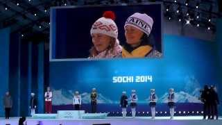 Anastasiya Kuzmina ::: Gold Medal Ceremony ::: Biathlon ::: Winter Olympic Games SOCHI 2014