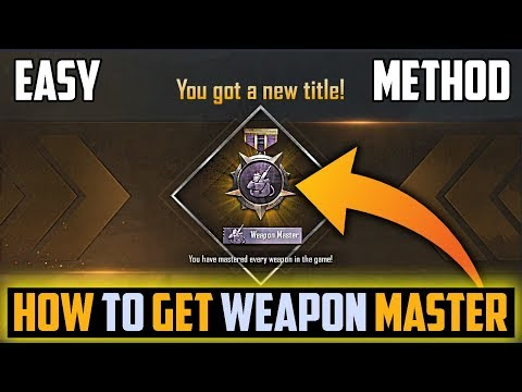 How to Complete Weapon Master Easily in Pubg Mobile