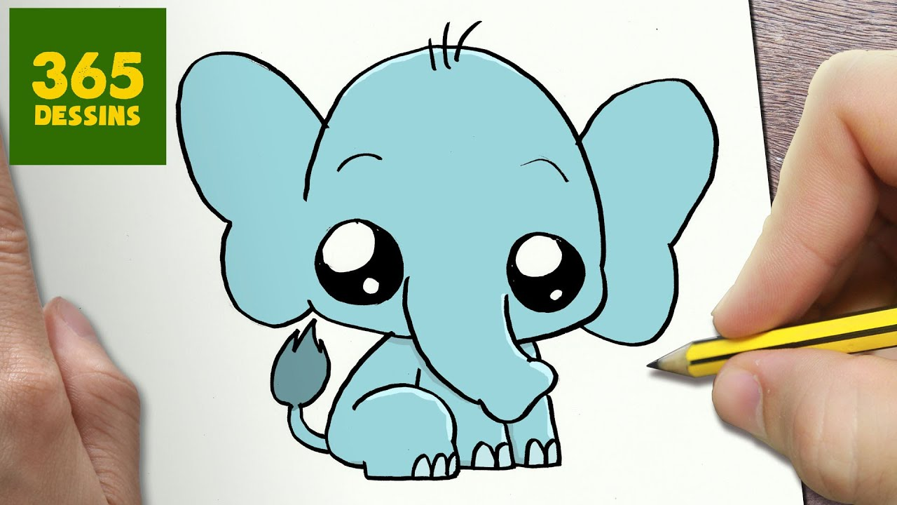 Comment dessiner l phant kawaii tape par tape dessins kawaii facile youtube - Comment dessiner un elephant facilement ...