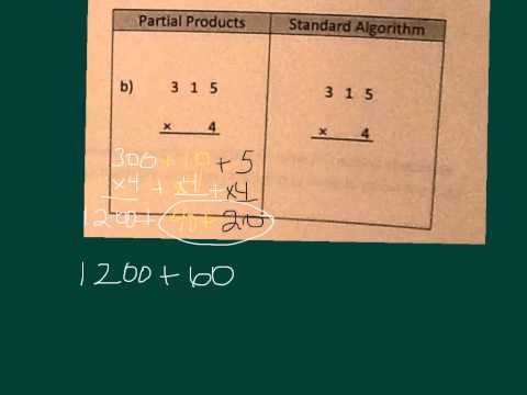 Partial Products To Standard Algorithm