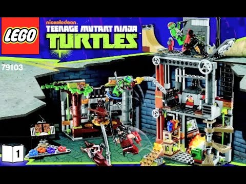 How To Build Lego Teenage Mutant Ninja Turtles 79103