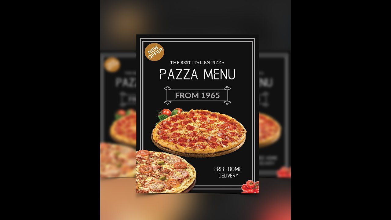 pizza sale flyer template - create pizza promotional flyer photoshop tutorial youtube