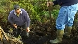 Peat cutting and turf cutting
