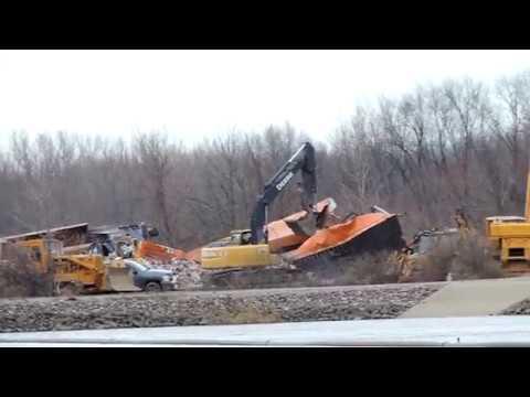 CSX Train Q020 Derailment in Batavia, NY **CLEANUP OPERATIONS**