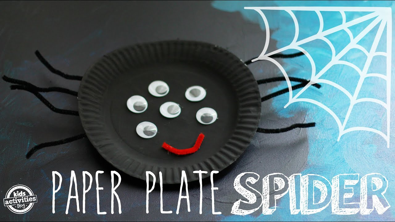 & Easy Paper Plate Craft: Make a Spider! - YouTube