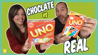 Chocolate Food vs Real Challenge 3!! Jordi y Bego de Momentos Divertidos