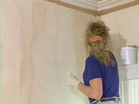 Faux painting wall glazing technique