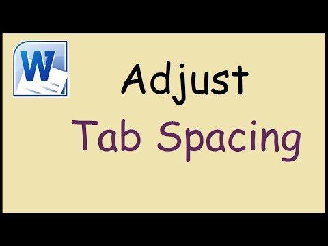 How To Adjust Tab Spacing In Word