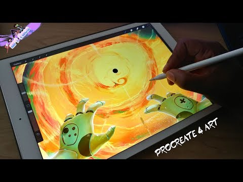 LET'S DRAW A CRAZY BLACK HOLE IN SPACE WITH PROCREATE 4 ON MY IPAD PRO FUN DRAWING TIME