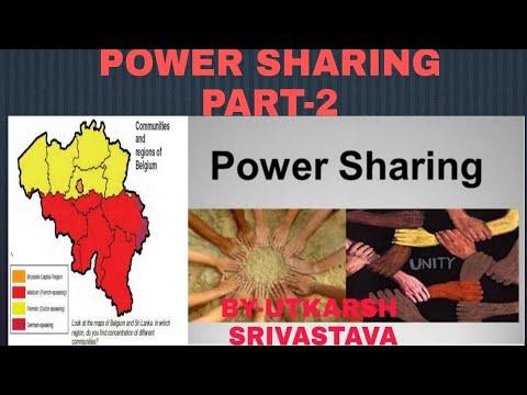 POWER SHARING (BELGIUM AND SRILANKA) PART-2