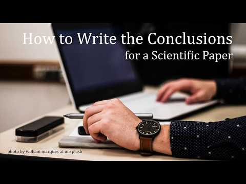 How To Write The Conclusions For A Scientific Paper