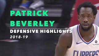 Patrick Beverley Defensive Highlights | 2018-19