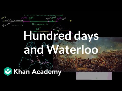Hundred days and Waterloo | World history | Khan Academy