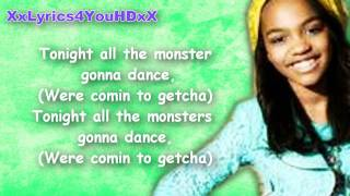 china anne mcclain calling all the monsters lyrics on screen hd