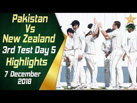 Pakistan Vs New Zealand | Highlights | 3rd Test Day 5 | 7 December 2018 | PCB thumbnail