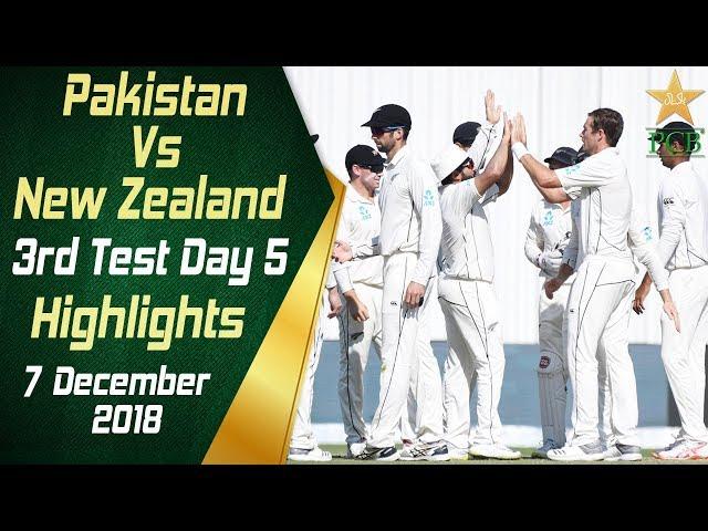 Pakistan Vs New Zealand   Highlights   3rd Test Day 5   7 December 2018   PCB