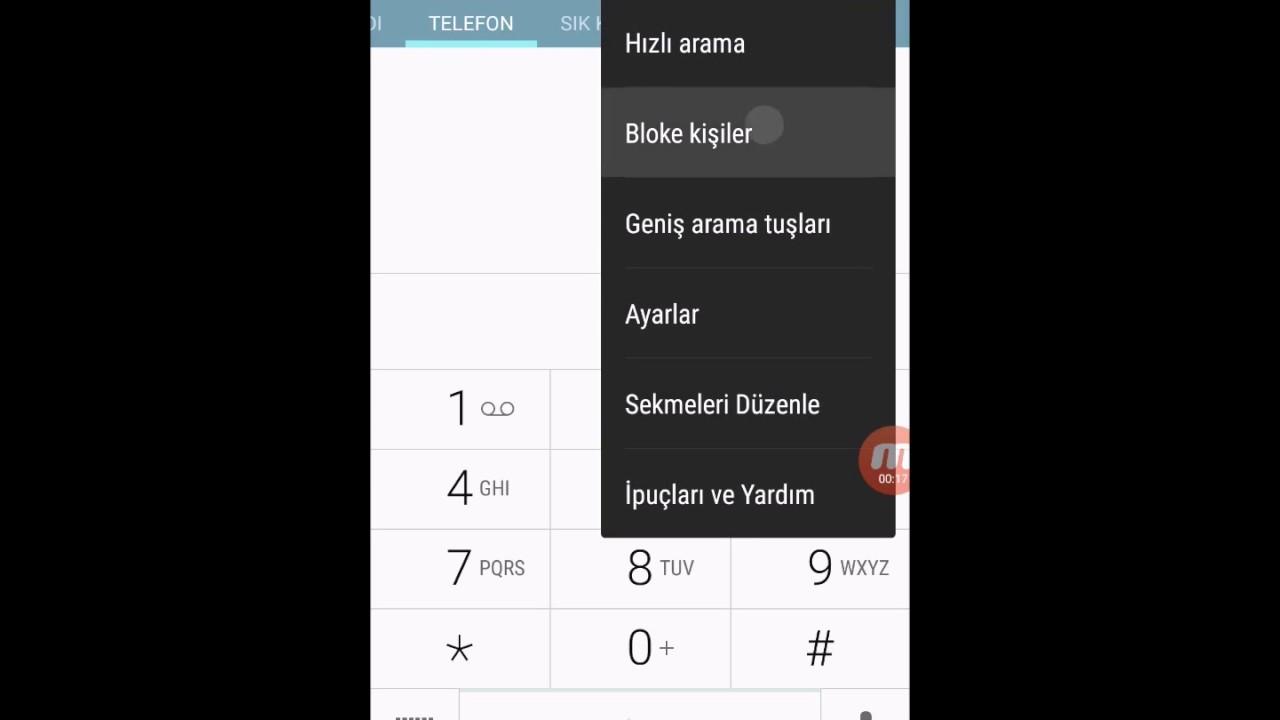 Samsung Galaxy serisi telefonlarda numara nasıl engellenir?