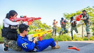 LTT Game Nerf War : Mission Impossible Winter SEAL X Warriors Nerf Guns | Immortals Human