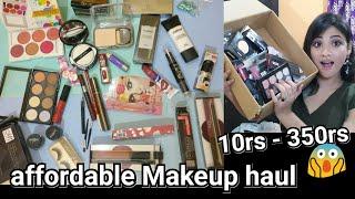 Beginner makup under 350 ||Affordable Makeup haul | collab with vartika