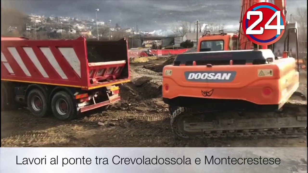 Lavori al ponte tra Crevoladossola e Montecrestese
